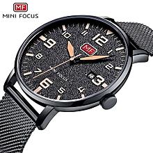 MINIFOCUS 2018 Men's Watch Hot Sell Fashion Sport Mens Clock Stainless Steel Waterproof Mens Watch Luminous Good Watches For Men 0158