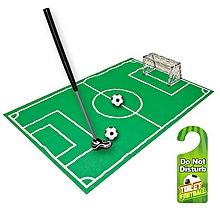 Novelty Bathroom Toilet Mini Football Goal Net Kit Trainer Funny Game Gift Toy-