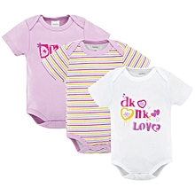 3 Pieces set of short sleeved Body Suits for all occasions