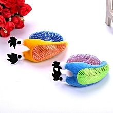 Cat Toy Cute Snail Shape Back Can Be Clawed Two Color Optional Pet Toy Blue