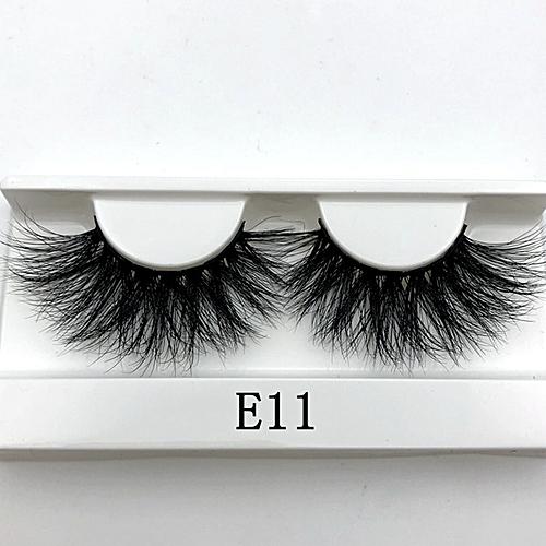219baeb04df Generic 25mm Long 3D mink lashes extra length mink eyelashes Big dramatic  25mm Mink Lashes 100% Cruelty free Handmade fake lashes(E11)