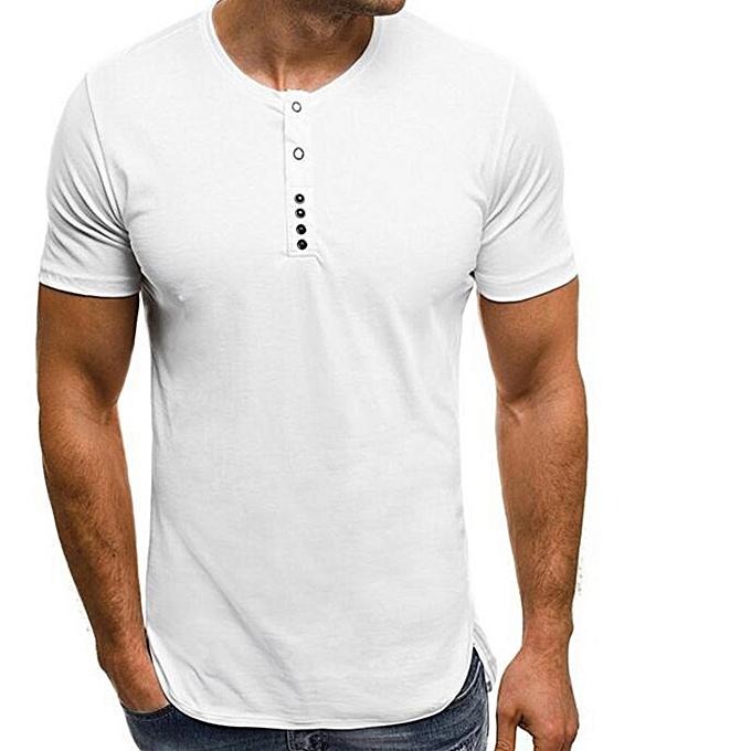 31658d964968 Generic New Stylish Summer Men's Short Sleeve Button T-shirt @ Best ...