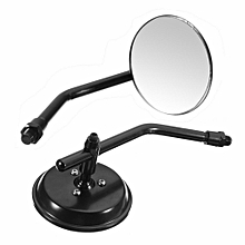 Classic Retro Motorcycle Round RearView Mirror For Harley Thruxton Bonneville
