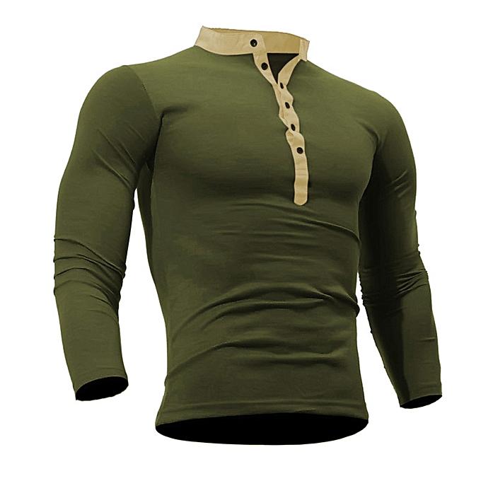 2af09e9d0db4 Men Spring Autumn Cotton T Shirt Men Solid Color Tshirt Long Sleeve Top AG/L