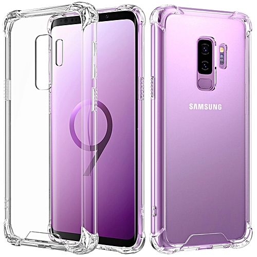 official photos 4c236 25eb4 Samsung Galaxy S9 Crystal Clear Case Shockproof TPU Edge + Rigid PC Hard  Back Cover