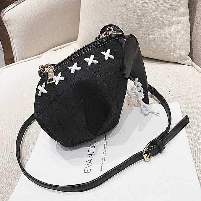 Elephant Style Matte PU Leather Shoulder Bag Ladies Handbag Messenger Bag ( Black) ... 0c83091467725