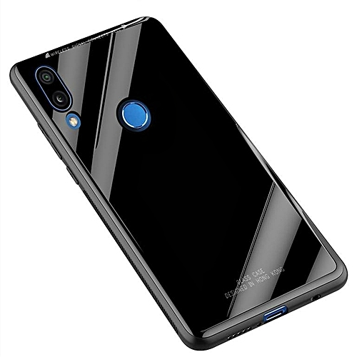 Huawei Y9 2019 Glass Case, Ultra Thin Stronger Tempered Glass Back Cover + TPU Frame Slim Bumpe Cover Silicone Case For Huawei Y9 (2019)