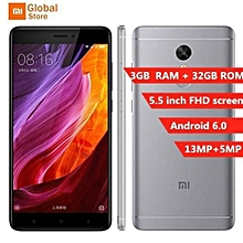 Xiaomi Redmi Note 4X 4G Phablet Android 6.0 5.5 inch Snapdragon 625 Octa Core 2.0GHz Fingerprint Scanner 5.0MP + 13.0MP Cameras - PINK SmartPhone