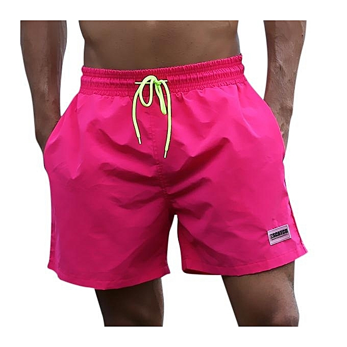 ... Loose Water Repellent Thin Sport Drawstring Solid Color Trunk Beach  Shorts For Men M-3XL ... 28cbcae0aa2