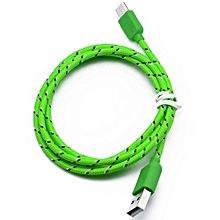 Genuine Nylon Braided USB 3.1 Type-C Data Sync Charger Charging Cable 1M-Green