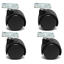 "Replacement 4pcs 1"" Swivel Plate Caster Nylon Wheel For Home Office Chair Table"