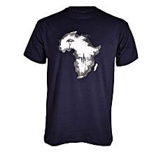 Navy Blue Afro T-shirt