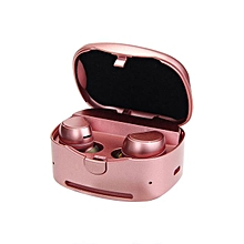 Earphone for Sport, HV-316T Bluetooth True Wireless Headphones Stereo Music Headset With Mic(Pink)