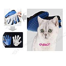 Elegant True Touch Deshedding Brush Glove Pet Dog Cat Gentle Efficient Massage Grooming Pet Bath Clean Brush Gloves