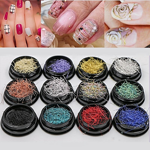 Buy Generic Nail Art Act The Role Ofing Is Gold And Silver Thread