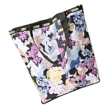 guoaivo Floral Printed Canvas Tote Shopping Bags Large Capacity Canvas Beach Bag R