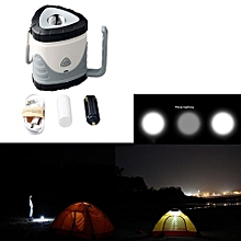 Camping & Hiking  LED Rechargeable Camping Outdoor Hiking Lantern Light Tent USB Lamp Gray