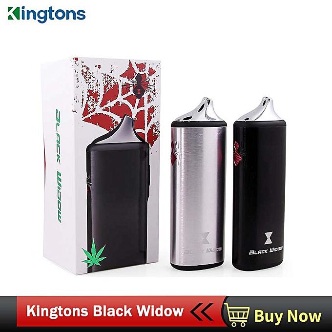 Original Kingtons herbal vaporizer Black Widow vapor box mod vaporizador  dry vape dry herb vaporizer herbal e cigarettes