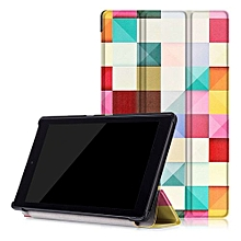 "For Amazon Fire HD8 2016 Case, Ultra Slim Case + PU Leather Smart Cover Stand Auto Sleep/Wake For 2016 Kindle Fire HD 8.0"" - Colorful"
