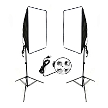 2pc 50x70cm Studio Photography Video Softbox Light Stand Continuous Lighting Kit