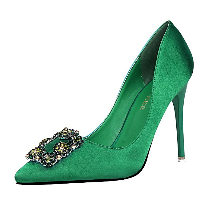 1bfc50c614 Fashion High-Heeled Shoes Woman Pumps Stiletto High Heels Crystal Pointed  Toe Women Shoes Closed
