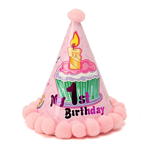 Generic Party Cone Hats Dress Up Girls Boys Adults Kids Happy Birthday Baby Celebration