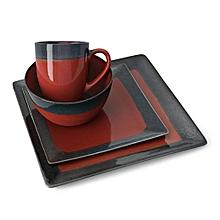 24 Pieces Dinner Set - Threshold Red