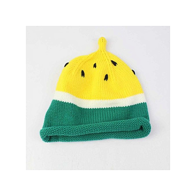 a6b3b5f1ece66 Toddler Kids Girl Boy Baby Watermelon Winter Warm Crochet Knit Hat Beanie  Cap-Yellow