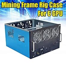 6 GPU Mining Frame Rig Case For ETH DIY Mining Crypto Currency Rigs Miner 6x Fan