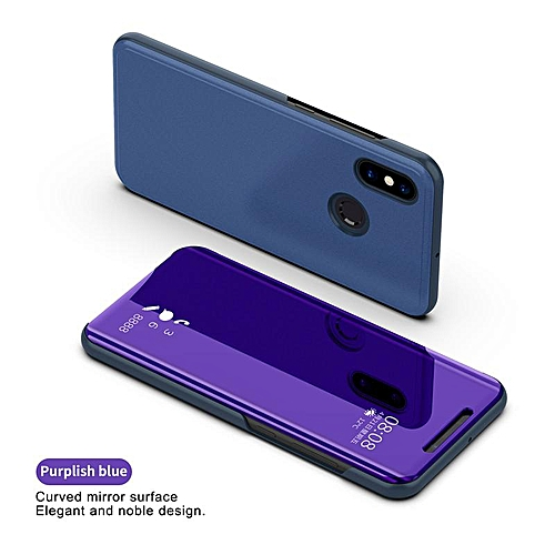 cheap for discount 2eb45 ab3bb For Xiaomi Redmi Note 5 Pro Luxury Smart Plating Mirror View Flip Cover  Case for Xiaomi Redmi Note 5 Mirror Window Flip Stand Leather Case Cover ...