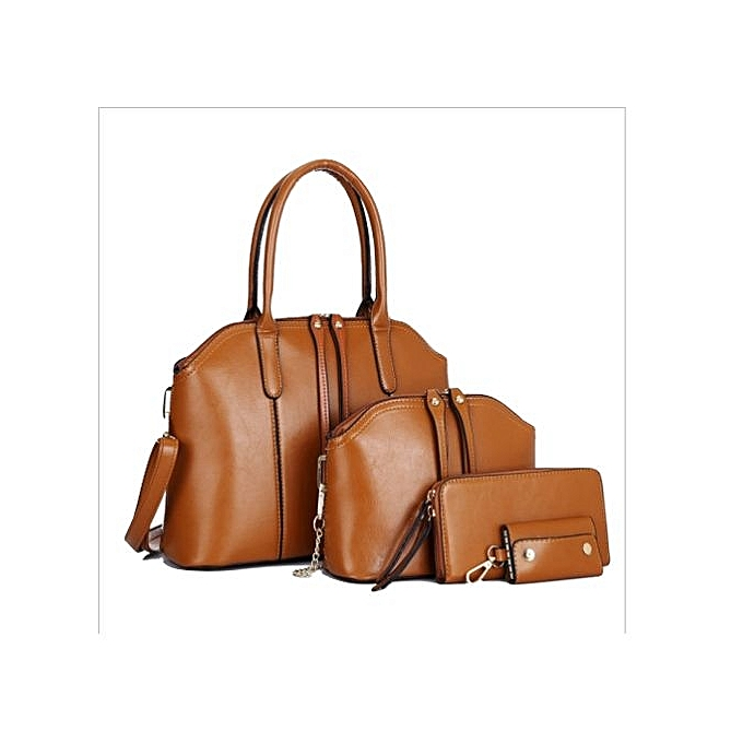 4e1479a999d Generic 4-in-1 PU Leather Handbag- Brown   Best Price