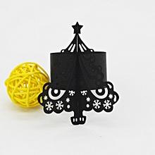 50PC Christmas Napkin Rings Serviette Holder Wedding Banquet Dinner Decorate