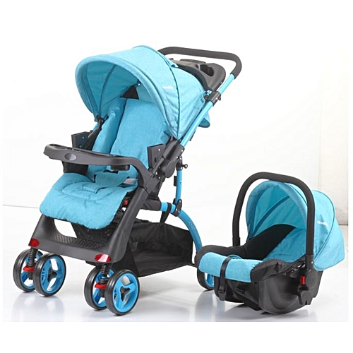 2-in-1 Baby Stroller-cum-Infant Car Seat - Blue