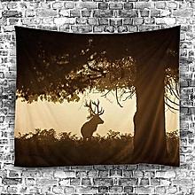 Forest Deer Mandala Tapestry Wall Hanging Throw Bedspread Beach Yoga Mat Decor