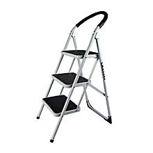 Power - 3 Step Ladder - Steel - White & Black