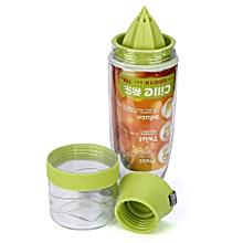NEW 750ML Lemon Cup Drink Water Bottle Drink More Water Drinking Bike Bottle-Green