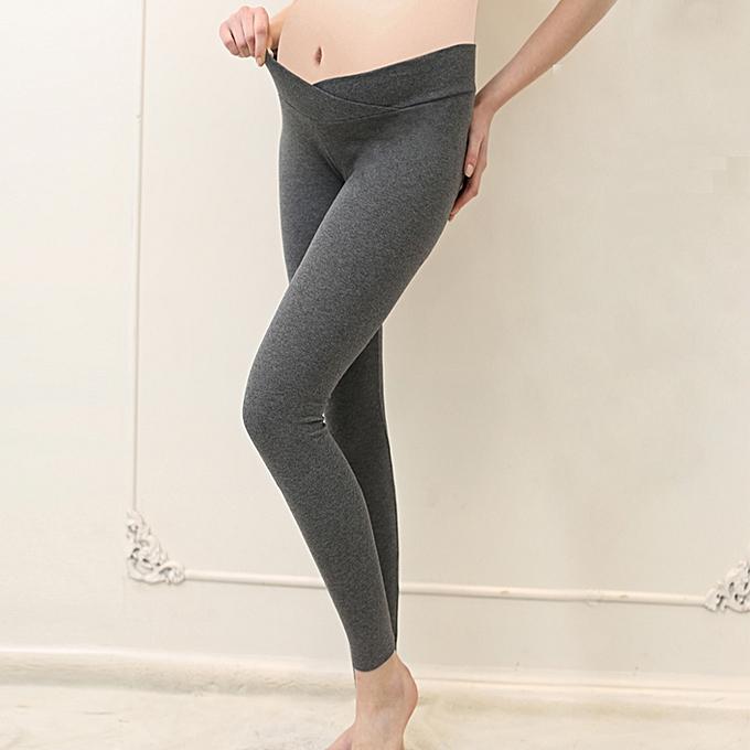 3c07b3cb65e3a Low Waist Maternity Leggings High Elastic Pregnant Pants Cotton Fashion  Pegnancy Legging Pants Autumn Maternity Clothes