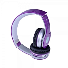 Wireless Bluetooth Stereo Foldable Headphone With Mic/FM/TF Slot  (Color:Purple)