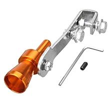 Blue Universal Car Turbo BOV Sound Whistle Simulator Pipe Exhaust Muffler (Gold)
