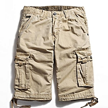 Outdoor Large Size Pure Cotton Washing Cargo Shorts Multi Pocket Casual Men's Shorts