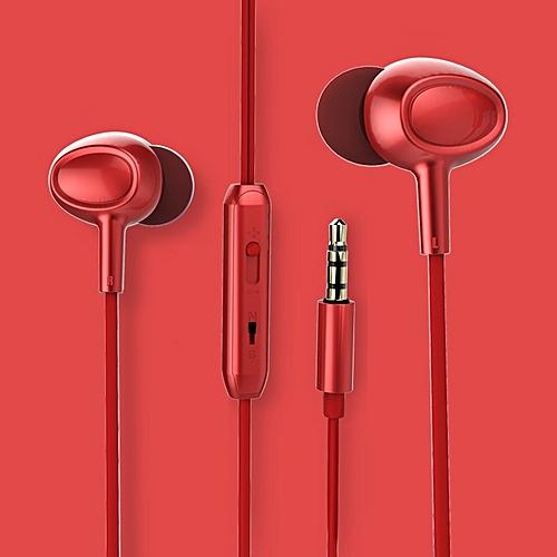 82f77e82709 Generic Bass Music Mobile Phones Computer Headphones Earplugs-Red ...