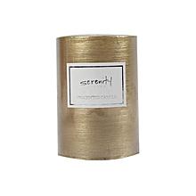 Pillar Candle - 7cm x 10cm - Gold