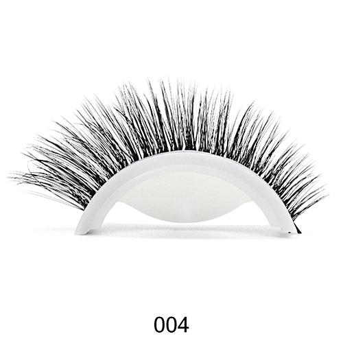 6963f175323 Generic 3D Mink Reusable Self-adhesive False Eyelashes Natural Curly Thick No  glue Fake Eyelashes Make-up Tools Eye Lashes Extension(4)