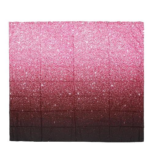 Gradient Pink Glitter Decor Bathroom Fabric Shower Curtain Waterproof 71X71 Inch