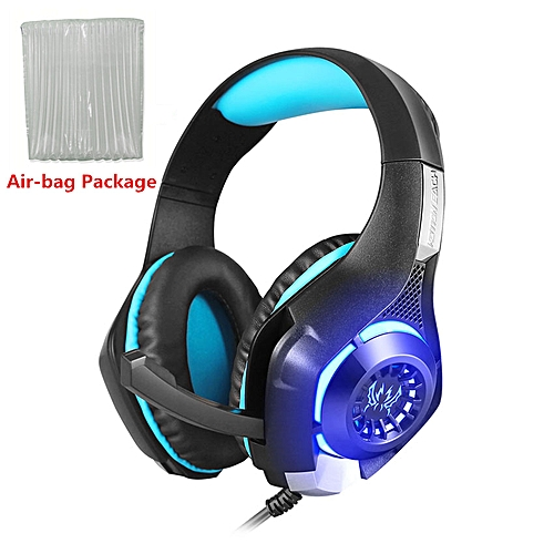 ffdbe7d02d6 Generic KOTION EACH GS400 PC Headset Gaming Headphones with Microphone LED  for PS4 New Xbox one Switch Notebook Phone Game PUBG Earphone(Black Blue  air bag)