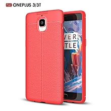 Litchi Pattern Silicone Case For OnePlus 3T 3 Case Full Protect Silicone Leather Back Cover For OnePlus 3T 1+3T Phone Case