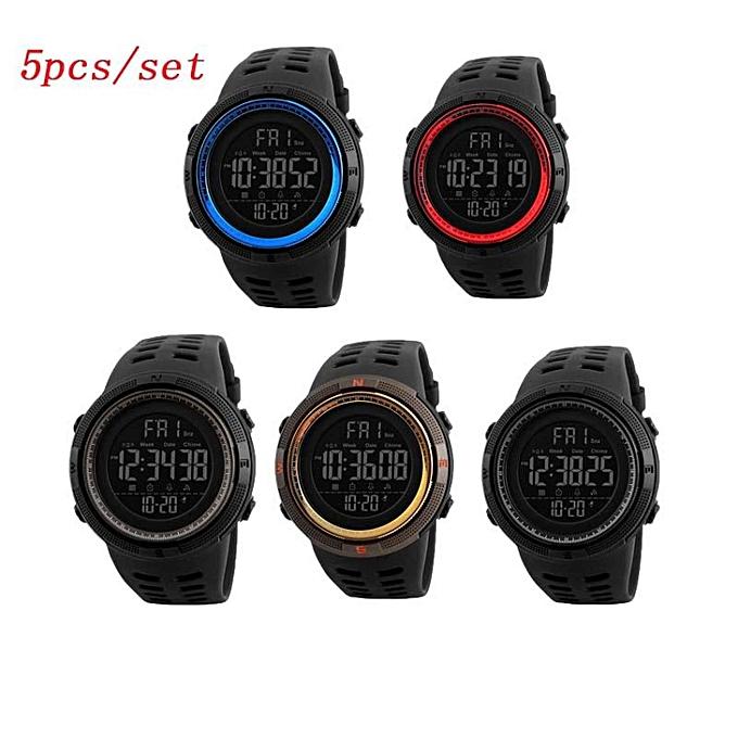 54cc5ba7716 ... Digital Wristwatches 50M Waterproof Watches BDZ ·  5 Pcs set  SKMEI 1251  Men s Sports Watches Countdown Double Time Watch Alarm