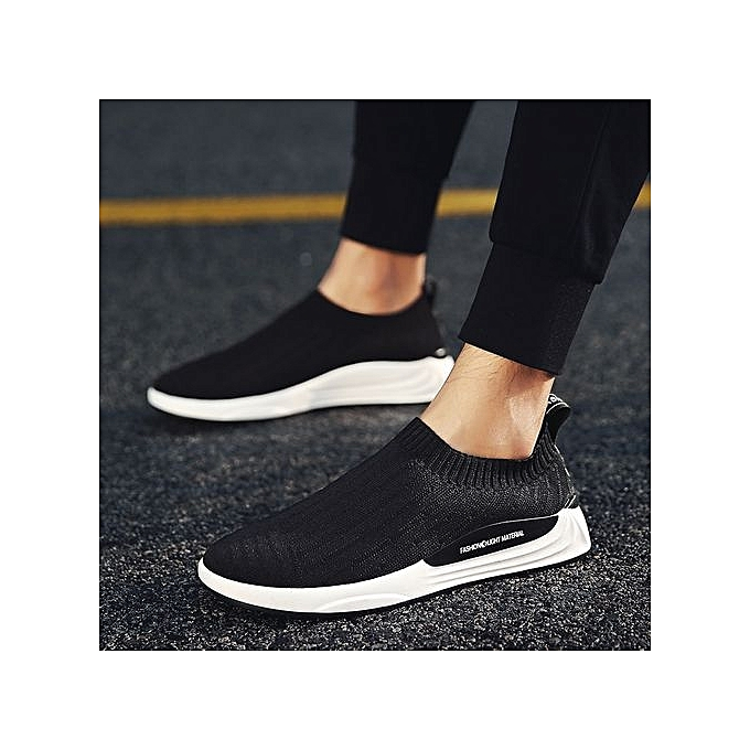 ac1effce2a5 2018 New Fashion Comfortable Mesh Face Breathable Men s Loafer Casual Shoes- Black