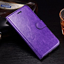 "For IPhone 7 Plus Case, Slim Holster Soft Flip Leather Cover With Card Slot Stand Function For 5.5"" IPhone 7S Plus, Purple"