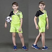 2018 New Brand Children Kid Boy And Adult Men's Football Soccer Team Training Sports Jersey Set-Green